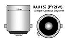 Λάμπες LED PY21W BAU15s