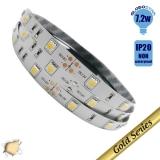 Ταινία LED 7.2 Watt 12 Volt Θερμό Λευκό IP20