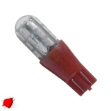 Λαμπτήρας T10 Απλός με 24 SMD 3014 Κόκκινο Strobe