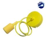 Κρεμαστό Φωτιστικό με Υφασμάτινο Κίτρινο Καλώδιο και Ντουί  Ε27