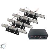 Φώτα Οδικής Βοήθειας LED 4 x 3 12-24 Volt DC Strobo Άσπρο Εξωτερικά