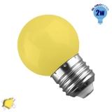 Mini Γλόμπος LED G45 2 Watt Κίτρινο GloboStar 64007
