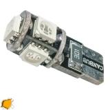 Λαμπτήρας LED T10 Can Bus με 5 SMD 5050 Πορτοκαλί