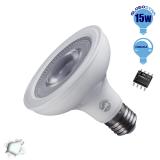 Λαμπτήρας LED E27 PAR30 12 Μοίρες 15 Watt 230v Ψυχρό Dimmable GloboStar 01781