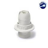 ΣΕΤ Ντουί E14 με Ροδέλα Πλαστικό Λευκό DIY GloboStar 90071