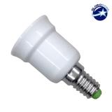 Πλαστικός Αντάπτορας από E14 σε E27 GloboStar 01427