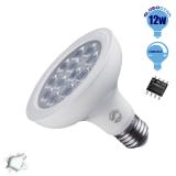 Λαμπτήρας LED E27 PAR30 36 Μοίρες 12 Watt 230v Ψυχρό Dimmable GloboStar 01775