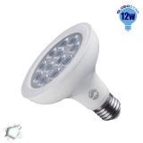 Λαμπτήρας LED E27 PAR30 36 Μοίρες 12 Watt 230v Ψυχρό GloboStar 01772