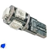 Λαμπτήρας LED T10 Can Bus με 5 SMD 5050 Μπλε