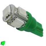Λαμπτήρας LED T10 με 5 SMD 5050 Πράσινο
