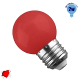 Mini Γλόμπος LED G45 2 Watt Κόκκινο GloboStar 64004
