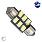 Σωληνωτός LED PCB 36mm με 6 SMD 5630 Samsung Chip Λευκό 6000k