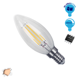 Κεράκι LED Edison Filament Retro E14 4 Watt c35 Θερμό Dimmable GloboStar 44002