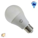 Γλόμπος LED A60 με βάση E27 8 Watt 230v Θερμό GloboStar 01723