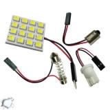 Πλακέτα LED PCB με 16 smd 5050 Ψυχρό Λευκό GloboStar 73440