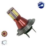 Λαμπτήρας LED H7 Can Bus με 57 SMD 3014 12 Volt 6000k GloboStar 77372