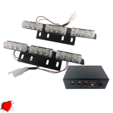 Φώτα Ασφαλείας LED 2 x 3 12-24 Volt DC Κόκκινο Εξωτερικά