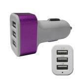 Φορτιστής Αναπτήρα Αυτοκινήτου 3 x USB Φούξια GloboStar 69994