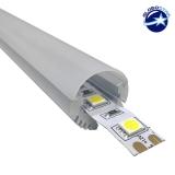 Εξωτερικό Στρογγυλό Κρεμαστό Προφίλ Αλουμινίου Milky Cover για Ταινία LED GloboStar 77481