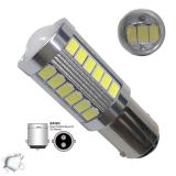 Λαμπτήρας LED BA15D με 33 smd 5630 10-30 Volt Ψυχρό Λευκό
