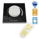 Dimmer Knob για LED 220 Volt 200 Watt Trailing Edge Ασύρματο GloboStar 50050