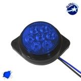 LED Πλευρικά Φώτα Όγκου Φορτηγών BULLET IP66 7 SMD 24 Volt Μπλε