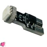 Λαμπτήρας LED T10 Can Bus με 1 SMD 5050 Φούξια