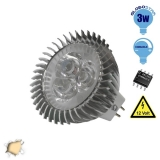 LED Spot MR16 3x1 Watt 12 Volt Θερμό Λευκό GloboStar 63150