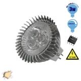 LED Spot MR16 3x1 Watt 12 Volt Θερμό Λευκό