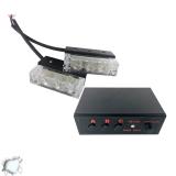 Φώτα Οδικής Βοήθειας LED 2 x 1 12-24 Volt DC Strobo Άσπρο Εξωτερικά