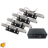 Φώτα Οδικής Βοήθειας LED 4 x 3 12-24 Volt DC Πορτοκαλί Εξωτερικά