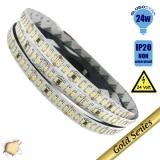 Ταινία LED 240 smd 3014 24 Watt 24 Volt Θερμό Λευκό GloboStar 63021
