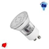 LED Spot GU10 M35 4W 230v Κόκκινο
