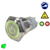Διακοπτάκι LED ON/OFF 230 Volt Πράσινο
