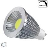 LED Spot GU10 COB 7 Watt Ψυχρό Λευκό Dimmable