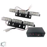 Φώτα Οδικής Βοήθειας LED 2 x 3 12-24 Volt DC Strobo Λευκό Εξωτερικά