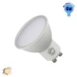 LED Σποτ GU10 Globostar 4 Watt 230v Θερμό