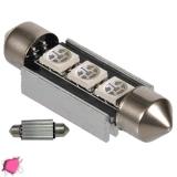 Σωληνωτός LED 39mm Can Bus με 3 SMD Φούξια GloboStar 51653