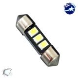 Σωληνωτός LED 31mm με 3 SMD 5630 Samsung Chip Λευκό 6000k