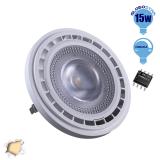Λαμπτήρας LED AR111 12 Μοίρες 15 Watt 230v Θερμό Dimmable GloboStar 01771