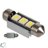 Σωληνωτός LED 36mm Can Bus με 3 SMD Ψυχρό Λευκό
