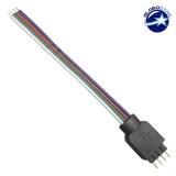 RGB Connector με καλώδιο 4 PIN GloboStar 77400