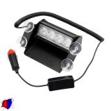 Φώτα Αστυνομίας 4 LED 12-24 Volt Μπλε & Κόκκινο για Παρμπρίζ