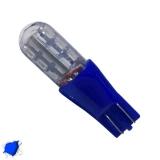Λαμπτήρας T10 Απλός με 24 SMD 3014 Μπλε Strobe