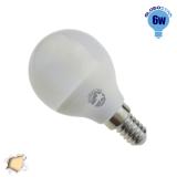 Γλομπάκι LED G45 με βάση E14 6 Watt 230v Θερμό GloboStar 01705