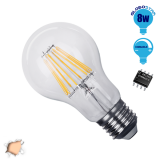 Γλόμπος LED Edison Filament Retro E27 8 Watt A60 Θερμό Dimmable GloboStar 44010