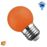 Mini Γλόμπος LED G45 2 Watt Πορτοκαλί Light GloboStar 64008