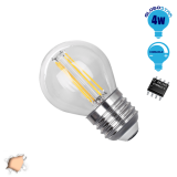 Γλομπάκι LED Edison Filament Retro Globostar E27 4 Watt g45 Θερμό Dimmable