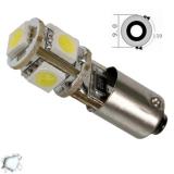 Λαμτπήρας LED Bax9s Can Bus με 5 SMD 5050 Ψυχρό Λευκό
