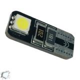 Λαμπτήρας LED T10 Can Bus με 2 SMD 5050 Ψυχρό Λευκό